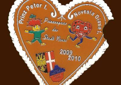 Prinzenpaar 2009/2010 Peter I. und Diana I.